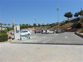 Zona d'aparcament del Pont del Poliesportiu