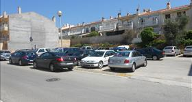 Zona d'aparcament de l'Institut