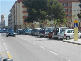 Zona d'aparcament de l'Entrada