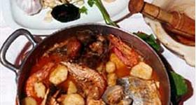 Rich fish stew (suquet de peix calero)