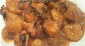 Octopus with potatoes (polp amb pataques)