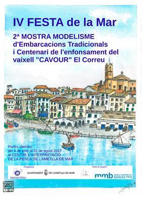 """2ª Muestra de Modelismo de embarcaciones tradicionales y Centenario del barco """"Cavour El Correu"""""""