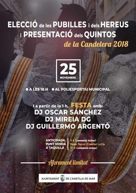 Elecció de les Pubilles i presentació dels Quintos de la Candelera 2018